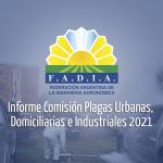 Primer Informe Comisión Plagas Urbanas, Domiciliarias e Industriales 2021